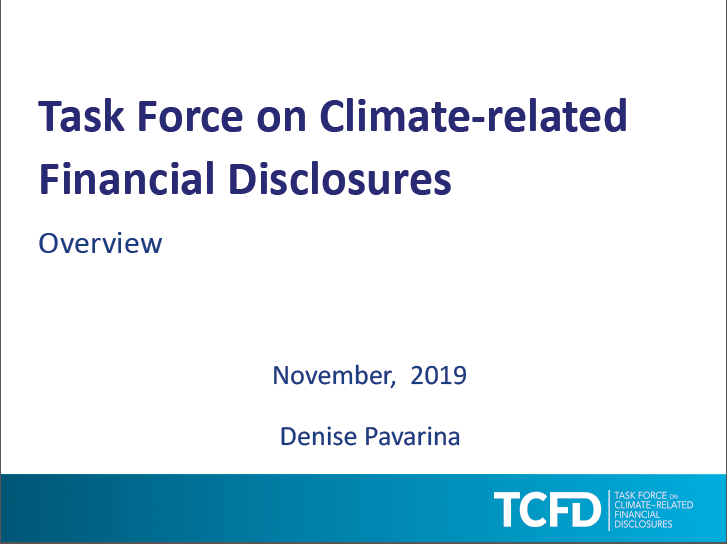 Overview of TCFD November 2019